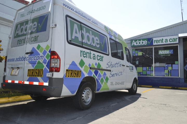 Adobe Rent a Car shuttle