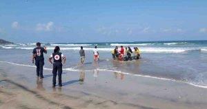 Rescue on beach
