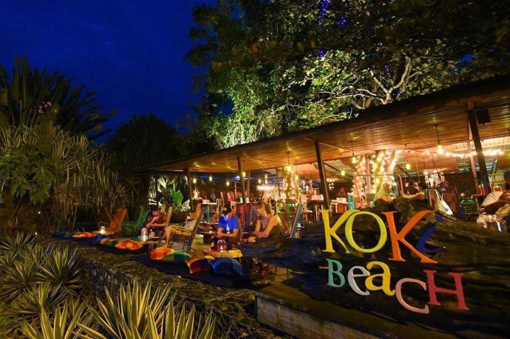 Koki Beach restaurant at night