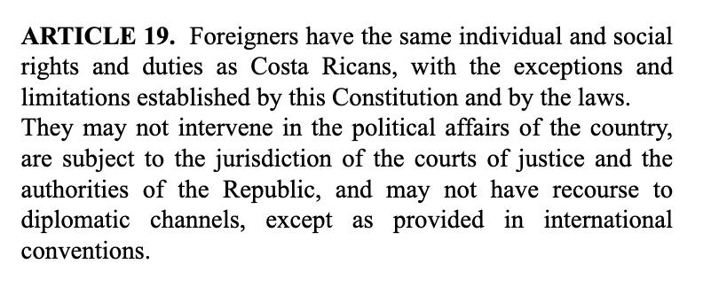 Constitution of the Republic of Costa Rica