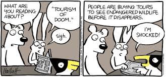 "Cartoon about ""Tourism of Doom"""