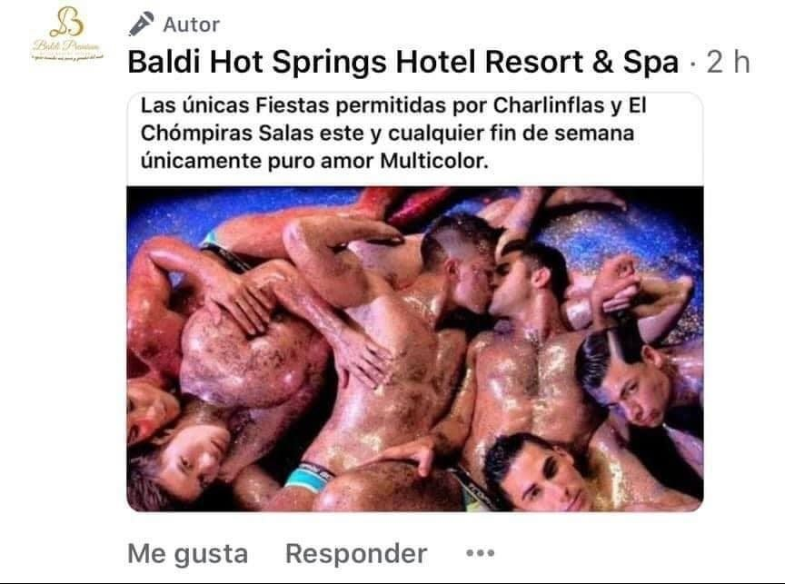 Screenshot from Baldi Hot Springs Resort and Spa's Facebook page