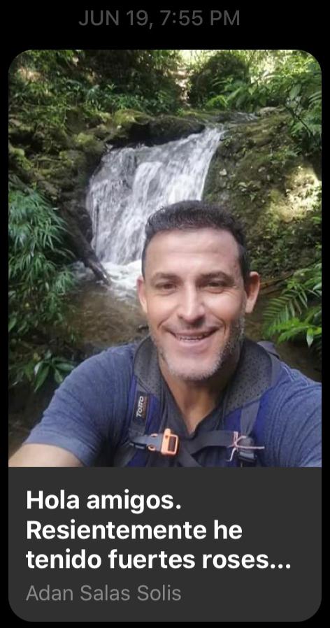 "Adan Salas Solis of ""tours senderos del poas"""