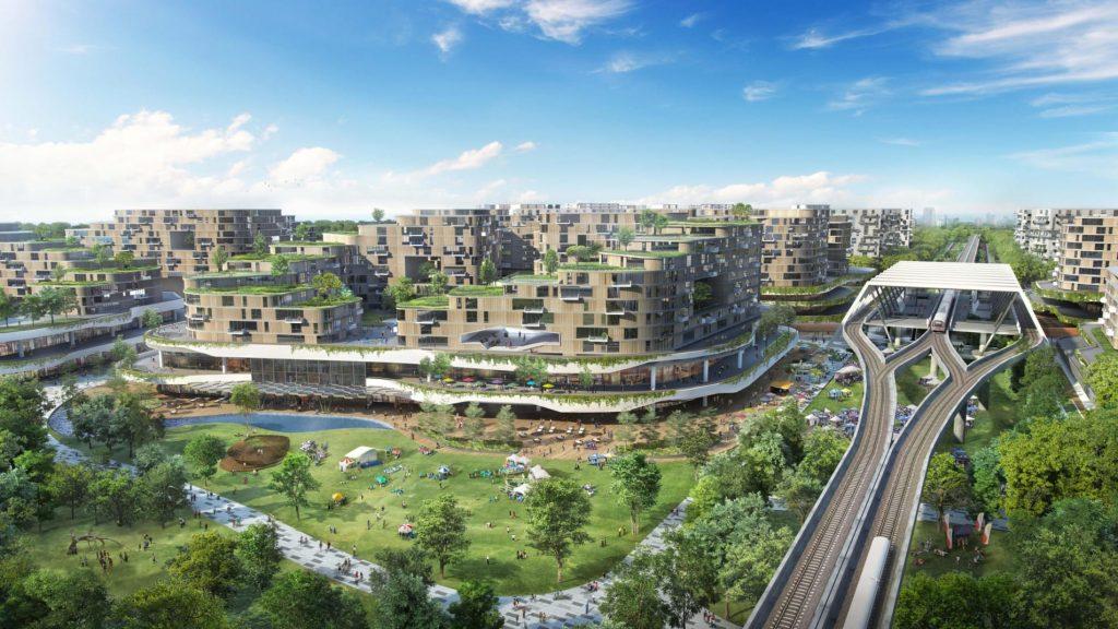 Depiction of a future Singapore community. Photo: Housing & Development Board - via CNN